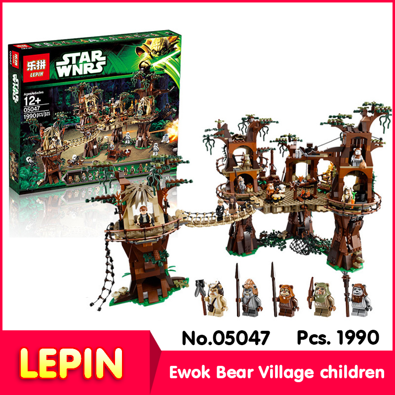 LEPIN 05047 1990Pcs with original box star wars series Ewok Village Building Blocks  Bricks Christmas Toy 10236 Gift<br><br>Aliexpress
