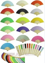 100pcs Hand Foldable Paper Hand Fan Wedding Decoration Party Favor 15 colors for choice