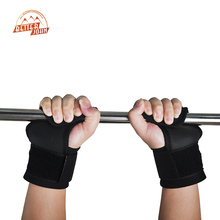 Pair Adjustable Fitness Wrist Support Weight Lifting Hooks Sport Training Gym Grips Straps Support Gloves(China)