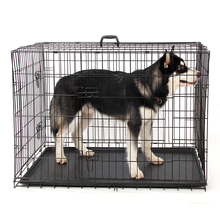 Domestic Delivery Wire Foldable Pet Crate Dog Cat Iron Cage Suitcase Exercise Playpen Pet Cage Universal Cage for Pet 5 Sizes(China)
