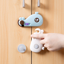 Lovely Whale Shaped Lock On Cabinet Security Babby Clip Door Drawer Wardrobe Protecting The Safety Of Children Baby Safety Tool(China)