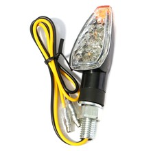 Universal Black Motorcycle Bike Turn Signal Indicator Light Motor Flasher Lamp Amber