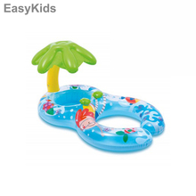 Inflatable Mother and Baby Float Swim Ring Shade  Circle Ring Kids Seat With Sunshade Cover Sun Two People Double Swimming Pool