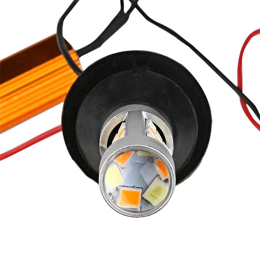 2X 1156 P21W BA15S 50W 42SMD DRL Turn Signals Tail Reverse LED Light White/Amber Oct 20<br><br>Aliexpress