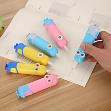 1 PCS Candy Cartoon Minions Electronic Eraser With Fan Kawaii Rubber Erasers Kids Toy(China)
