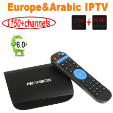 NEXBOX A1 Android 6.0 Smart TV Box With 1 Year IPTV Europe VP9-10 2G 16G Amlogic S912 2.4G/5.8G Dual WiFi BT4.0 4K Media Player