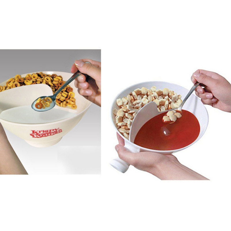 2017 New Plastic Bowl Separated With Handle Popcorn Fruit Sauces Container For Watch Movie TV Capacity of 300ml CN12(China)