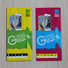 20pcs/lot Mobile Phone Premium Tempered Glass Film Guard Retail Packaging Box for iphone4 5 6S 7 plus Galaxy S5 S4 Paper Package