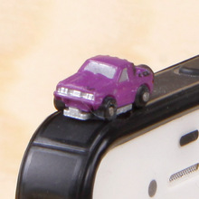 Action Figure random Car SUV Dust plug 1.5cm PVC 3.5mm Universal mobile cute decoration Model anime cell phone(China)