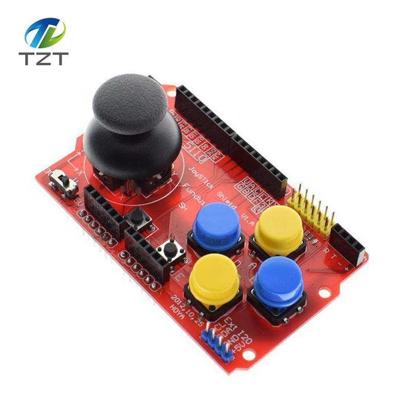 Joystick Shield for Arduino Expansion Board Analog Keyboard and Mouse Function Joystick Shield V1.2 7