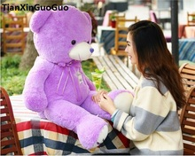 filled plush toy large 80cm purple teddy bear plush toy soft doll throw pillow Christmas gift h1447(China)