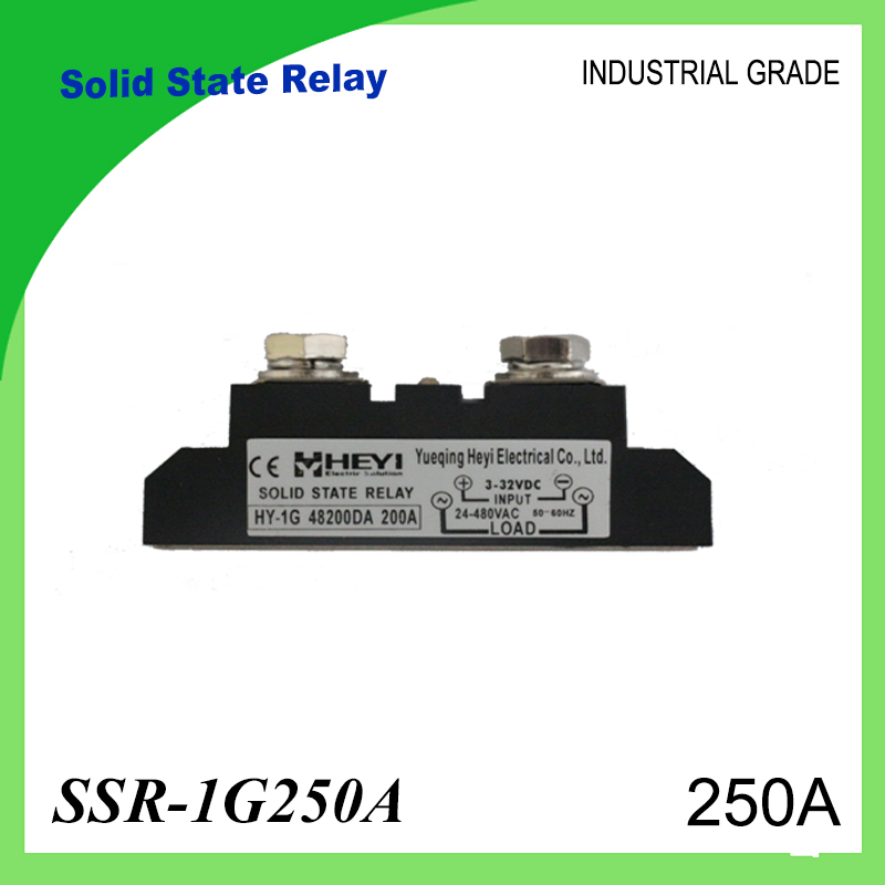 SSR-250A Solid State Relay 250A Industrial 24-480VAC 3-32VDC(D3) 70-280VAC(A2) High Voltage Relay Solid State Relays SSR 250A<br>
