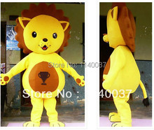 mascot yellow Lion King Mascot Costume Adult Size Cartoon Character Christmas Party Fancy Dress EMS FREE SHIP