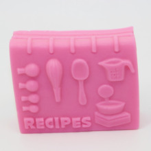 Recipes Modelling Silicon Soap Molds Fondant Cake Decoration Mold Wholesale Handmade Soap Mould AQ013(China)