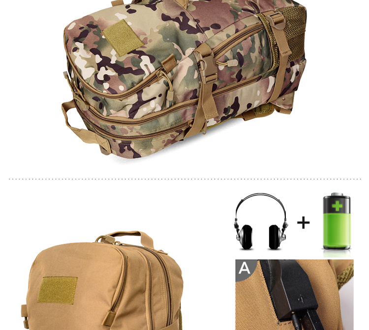 50L Rechargeable Outdoor sports Military Tactical Rucksack travel Camping Hiking Backpack climbing bag double shoulder outdoor bag (4)