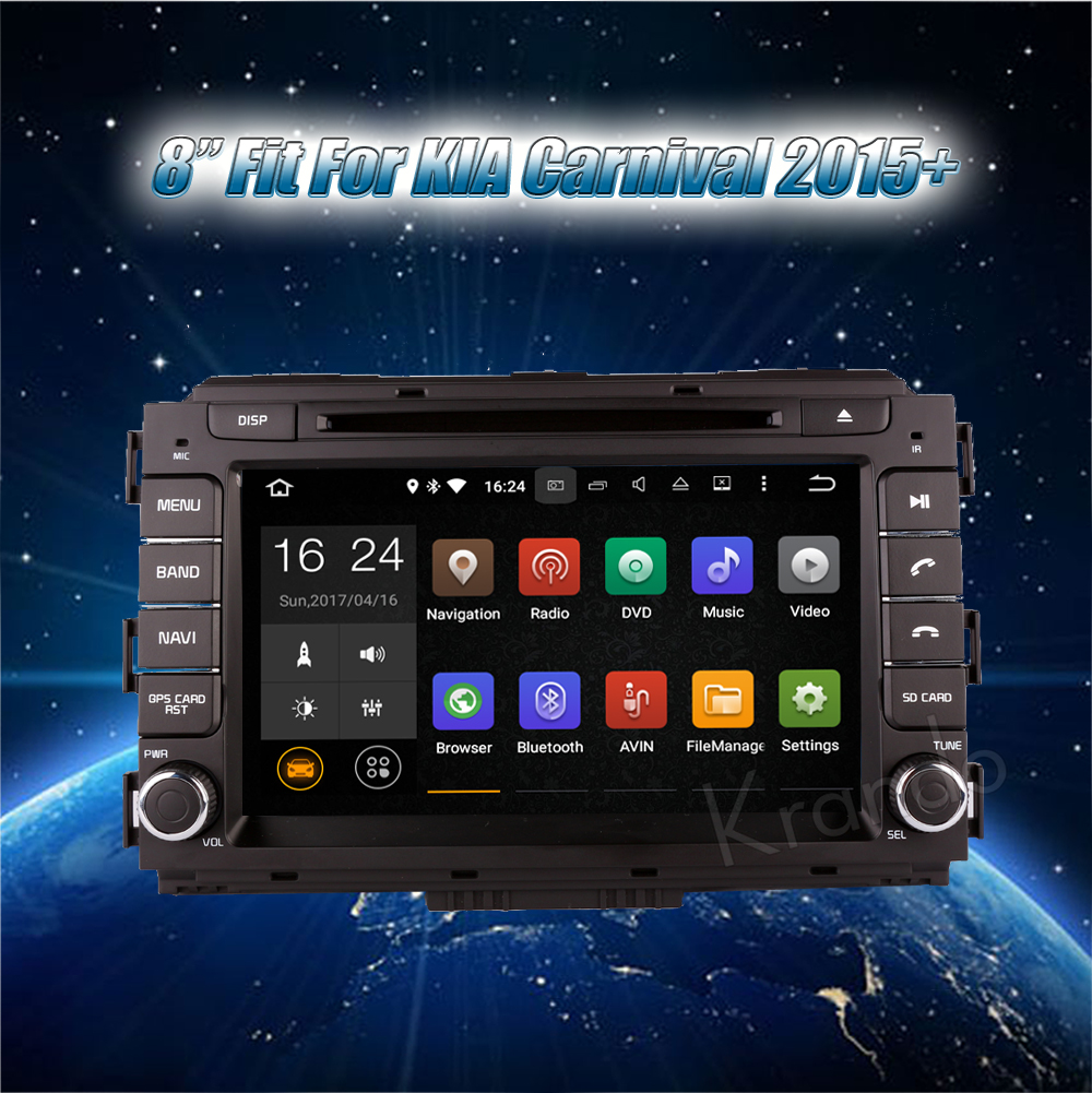 Krando kia carnival Android car radio gps navigation multimedia system (2)