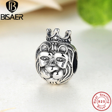 925 Sterling Silver King Of The Jungle Lion Head Charms fit original Pandora Bracelets & Necklace Jewelry Accessories HJS218