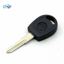 20pcs/lot Free shipping for blank transponder car key shell case cover for Vw Passat (can install chip) With Logo