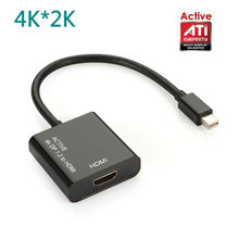 Active ATI Eyefinity HD 4K Mini DisplayPort DP Male to HDMI Female Video Audio Mac ThinkPad Adapter Converter Multiple Monitor(China)
