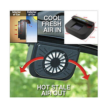 50% OFF ABS Solar Powered Car Window Windshield Auto Air Vent Cooling Fan System Cooler(China)