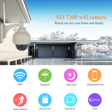 Wanscam HW0038 Waterproof 720P IR Night vision Motion Dection Onvif IP CCTV Dome Security Camera Wireless WIFI TF Card Slot(China)