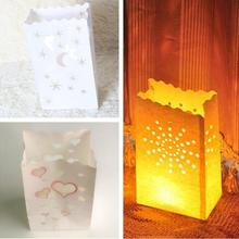 10 Pcs/lot Stars and Moon Light Holder Luminaria Paper Lantern Candle Bag For Christmas Party Home Outdoor Wedding Decoration