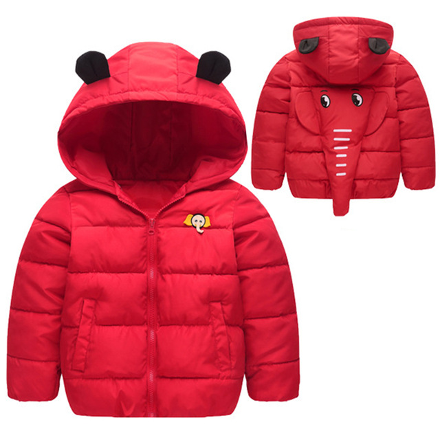 Autumn And Winter Lovely Childrens Boys Girls Thin Feather Cotton Hooded Coat+pant Red Clothing Sets Hot Sale Mother & Kids