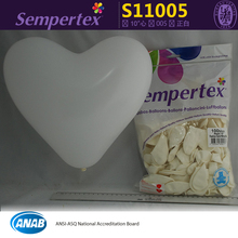 100pcs/bag high quality Sempertex heart shape Latex balloons,wedding supplies white love heart balloon,Columbia imports.