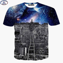 Buy Mr.1991 New 2017 summer short sleeve T-shirt children side Castle ruins galaxy 3D tshirt Unisex 12-20years tops X20 for $8.92 in AliExpress store