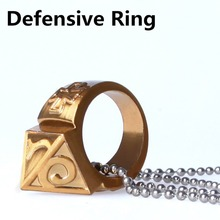 Self-defense Ring Shocker Weapons Product Survival Ring Tool Pocket Women Self Defense Ring With Necklace Zinc Alloy Travel Kit(China)