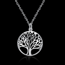 SMJEL  New Fashion High Quality Tree of Life Necklaces women Long Chain Pendant Necklace Gift SYXL042
