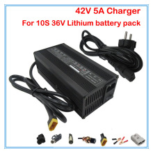 High quality 240W 42V 5A 36V 5A lithium battery charger XT60 Port 110V / 220V for 36V 10S Electric Bike Battery