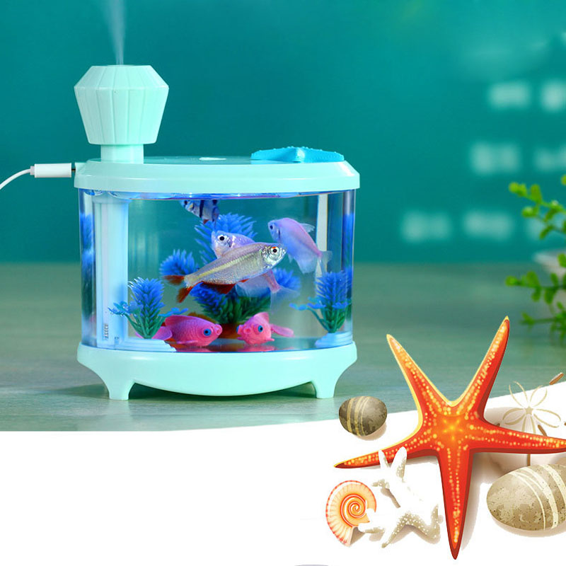 USB Colorful Mini Humidifier Aquarium Lamp Hhumidifier Aromatherapy Diffusers For Home Office Mist Maker WA015 T15 0.4<br><br>Aliexpress