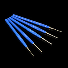 Buy 0.7-2.0mm Crochet Hooks Knitting Needles Sewing Tool Blue Handle 5Pcs/Set for $1.40 in AliExpress store