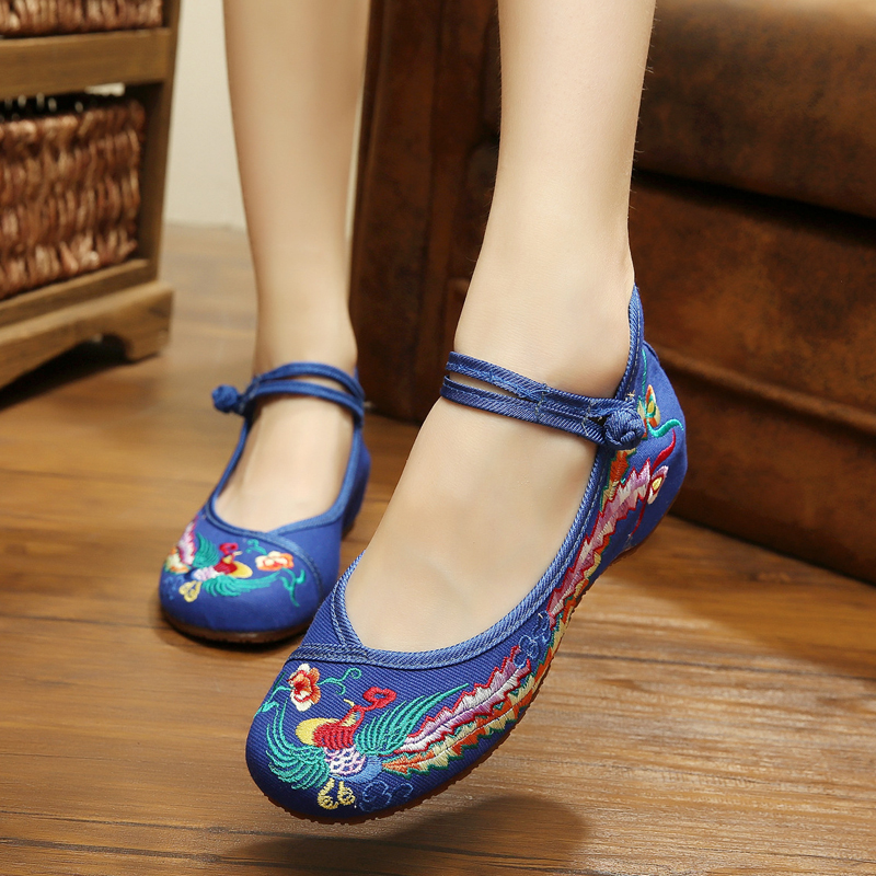 New Spring and Summer quality China phoenix embroidery flats shoes for women ethnic style casual ladies Dance Shoes<br><br>Aliexpress