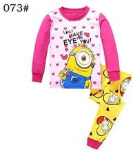 New 2016 Children Clothes Kids Minions Pyjamas Baby Despicable Me Pajamas Boys Girls 100% Cotton Pijamas Kids Sleepwear
