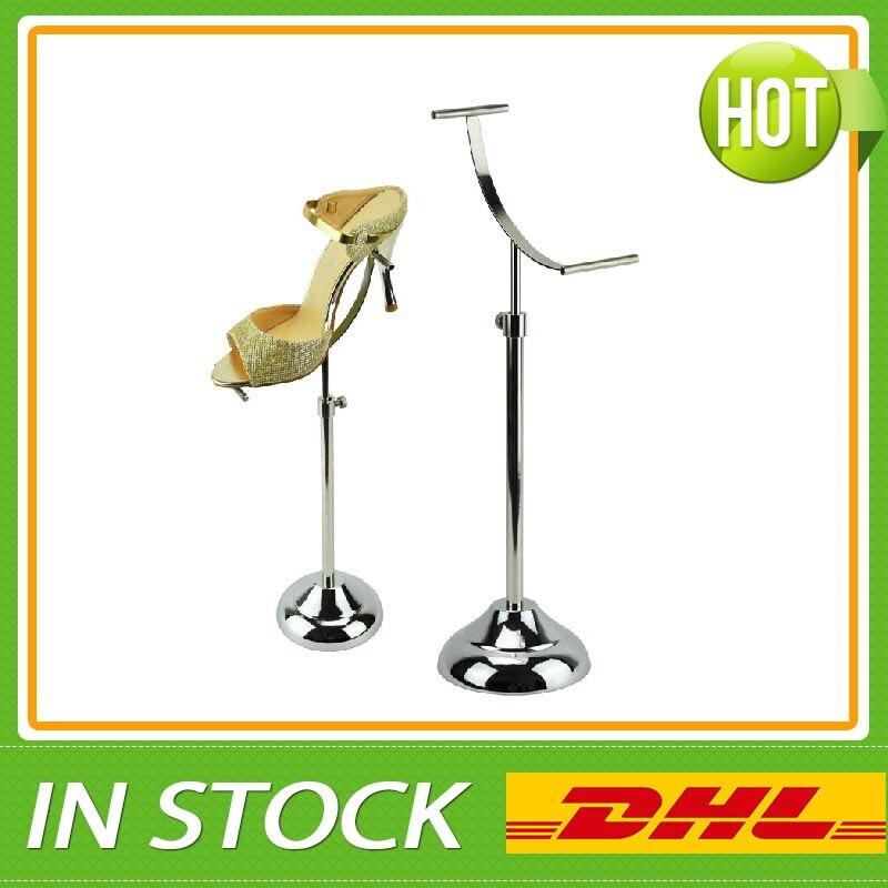 Polished Shoe display stand, Metal Sandal Riser Display<br>