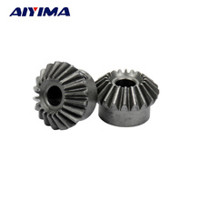 AIYIMA 2pcs 6mm Metal Bevel Gears 1 Module 20 Teeth With Inner Hole 6mm 90 Degree Drive Commutation