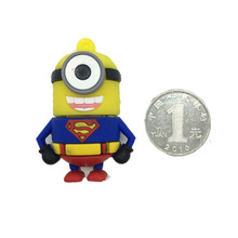 Disk USB Stick Memory Pendrive Stick Storage Device Minions Superman Hero Pen Drive 128GB 64GB 32GB 16GB 8GB 4GB USB Flash Drive