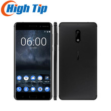 Nokia 6 Original Android 7.0 Smartphone Nougat Wi-Fi 5.5'' 4GB RAM 64GB ROM Fingerprint Dual SIM Multi-language Support(China)