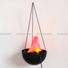LED Hanging Fake Flame Lamp Torch Light Fire Pot Bowl Festival Party Decor SMB 40316926(China)