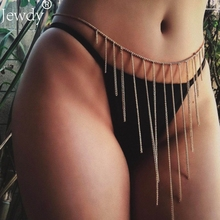Gold color tassel belly chain boho waist chain for women bohemian sexy bikini Exaggerated Night Club body jewelry body chains