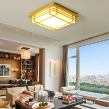 New arrival Japanese wood LED ceiling light fixture modern brief home deco Chinese acrylic ceiling lamp(China)