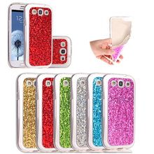 Tikono Cover for Samsung Galaxy S3 i9300 Case Shimmering Powder Soft TPU Cell Phone Back Cover Case(China)