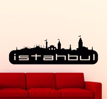 Istanbul Sticker Logo Wall Art Turkey Famous Silhouette Scenery Word City Vinyl Decal Home Room Interior Decor Mural