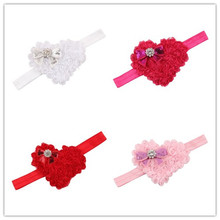 4Clr Hot children accessories Infant newborn Baby girl accessories Heart paillette Bow Toddler Head bands Headwear kids HairBand