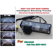 For Mitsubishi Colt Plus 2007~2013 Smart Backing Tracks Camera / imports HD CCD Night Vision / Rear View Parking Reverse Camera(China)