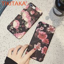 Buy Retro Flowers Phone Cases iPhone 8 7 6 6s Plus Mobile Phone Bags & Cases Capa Fashion Rose Flower Florals Hard PC Back Cover for $2.35 in AliExpress store