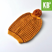 2017 KBB Spring Orange Color Warm Christmas Box Striped Pom Pom Children Women Men Knit Winter Hat Beanie Women Cap(China)