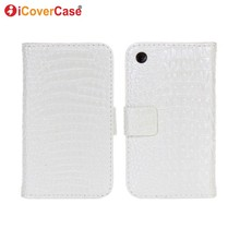 Cover for iPhone 3GS Case Flip Croco Wallet Leather Coque for Apple iPhone 3 3G Phone Cases Carcasas Hoesjes Fundas Etui Hoesjes(China)